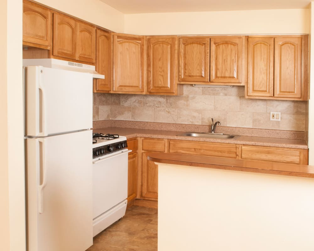 Great kitchen amenities at Villager Apartments in Irvington, New Jersey