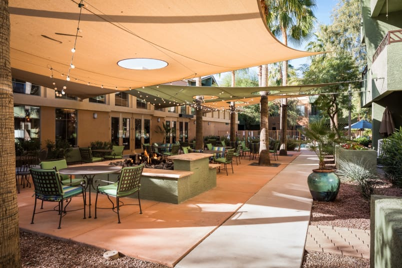 A view from of our outside covered Patio at McDowell Village in Scottsdale, Arizona