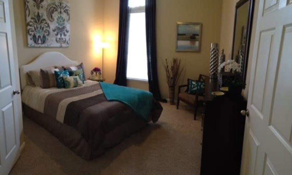 Cozy bedroom at Station at Mason Creek in Katy, Texas