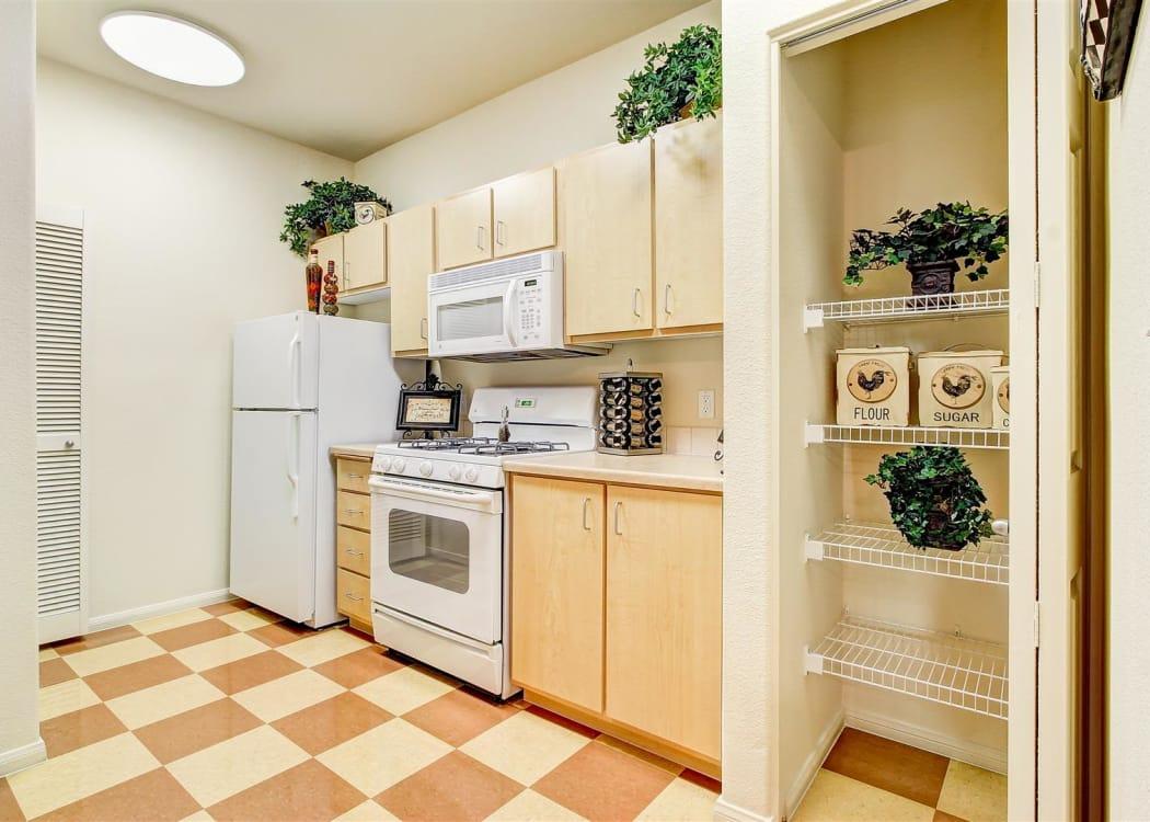 Upgraded kitchen at Brooks Landing in Modesto, CA