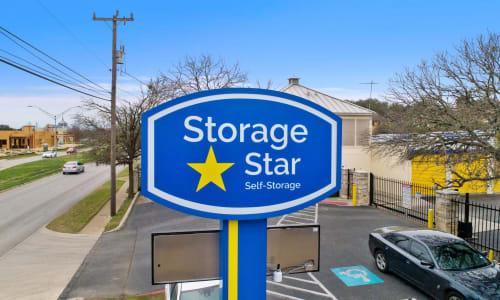 Storage Front sign at Huebner Mini-Stor in San Antonio, Texas