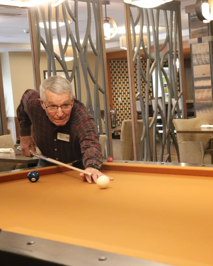 Pool player at Fancho's The Springs at Bozeman in Bozeman, Montana