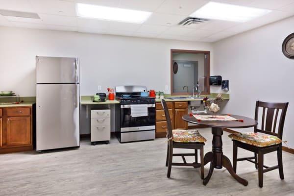 A community room at Aurora on France in Edina, Minnesota.