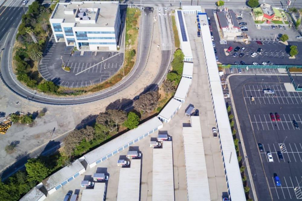 Aerial view of Golden State Storage in Gardena