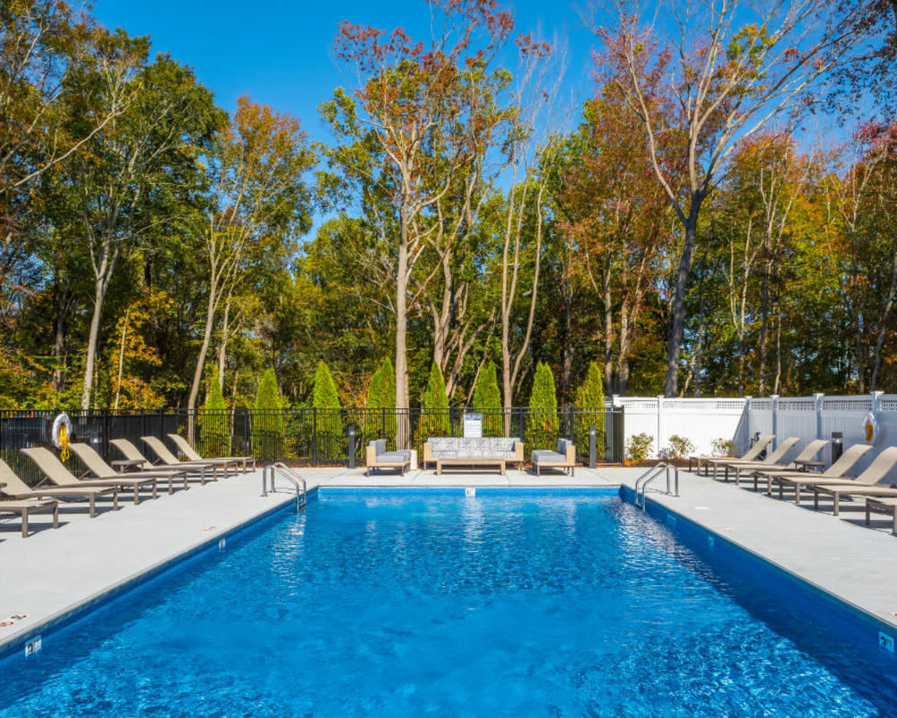 Resort-style swimming pool at The Cove at Gateway in East Lyme, Connecticut