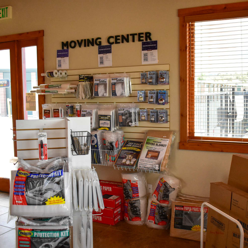 Moving supplies for sale at STOR-N-LOCK Self Storage in Gypsum, Colorado