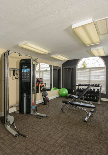 Fitness center at Villas at Greenview West in Great Mills, Maryland