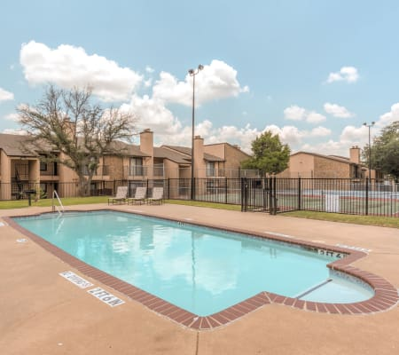 Community pool at The Corners Apartments