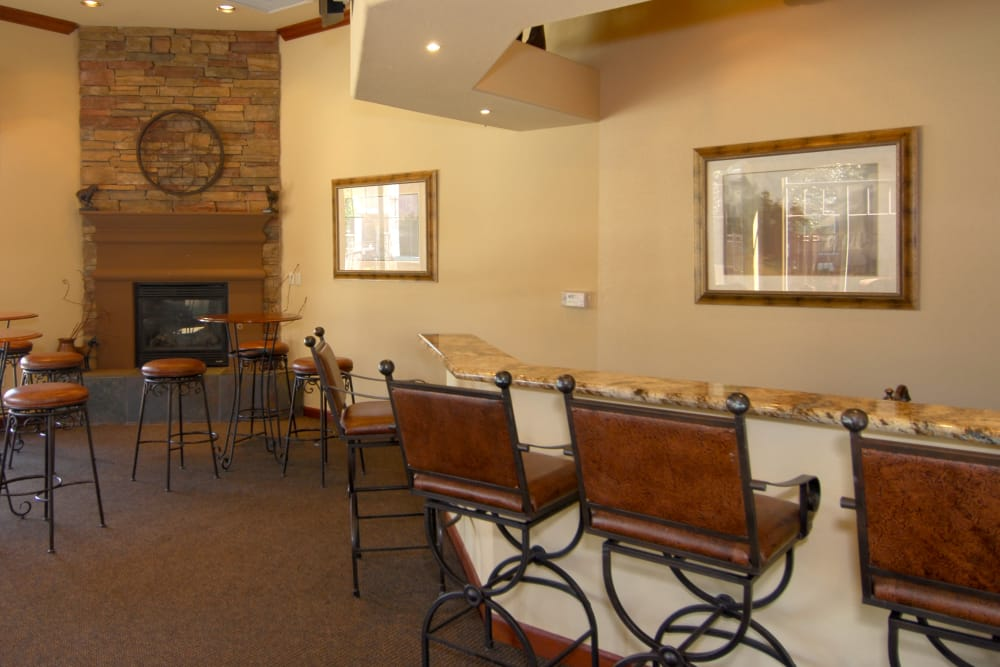 Contemporary decor in resident clubhouse at Remington Ranch in Litchfield Park, Arizona