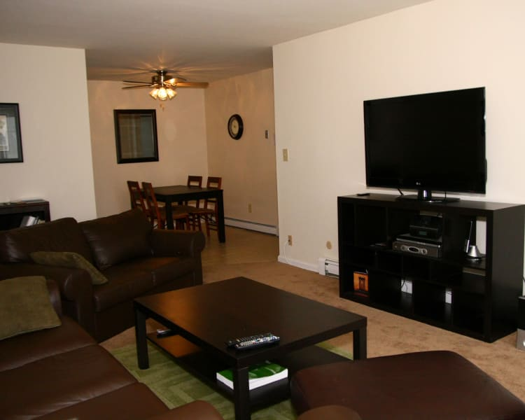 Living room at Terrace Lake Apartments in Bradley Beach, New Jersey
