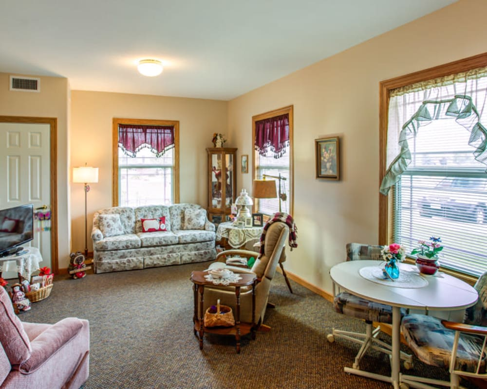 Spacious and bright floor plans at SunnyBrook Carroll in Carroll, Iowa.