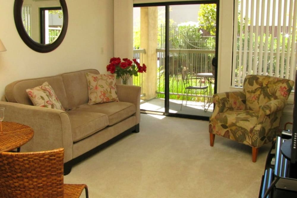 Open Floor Plans and private balcony at Winding Commons Senior Living in Carmichael, California
