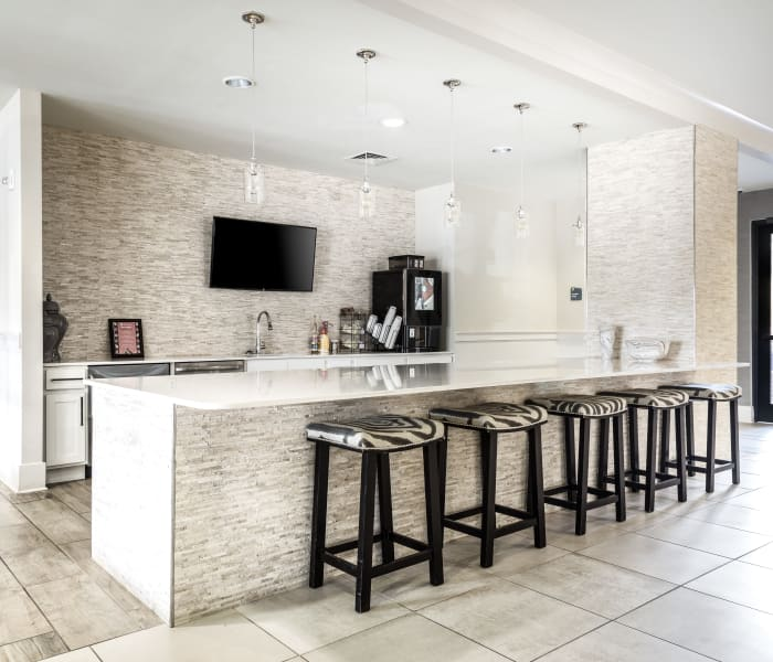 modern updated kitchen at Carraway Village Apartments