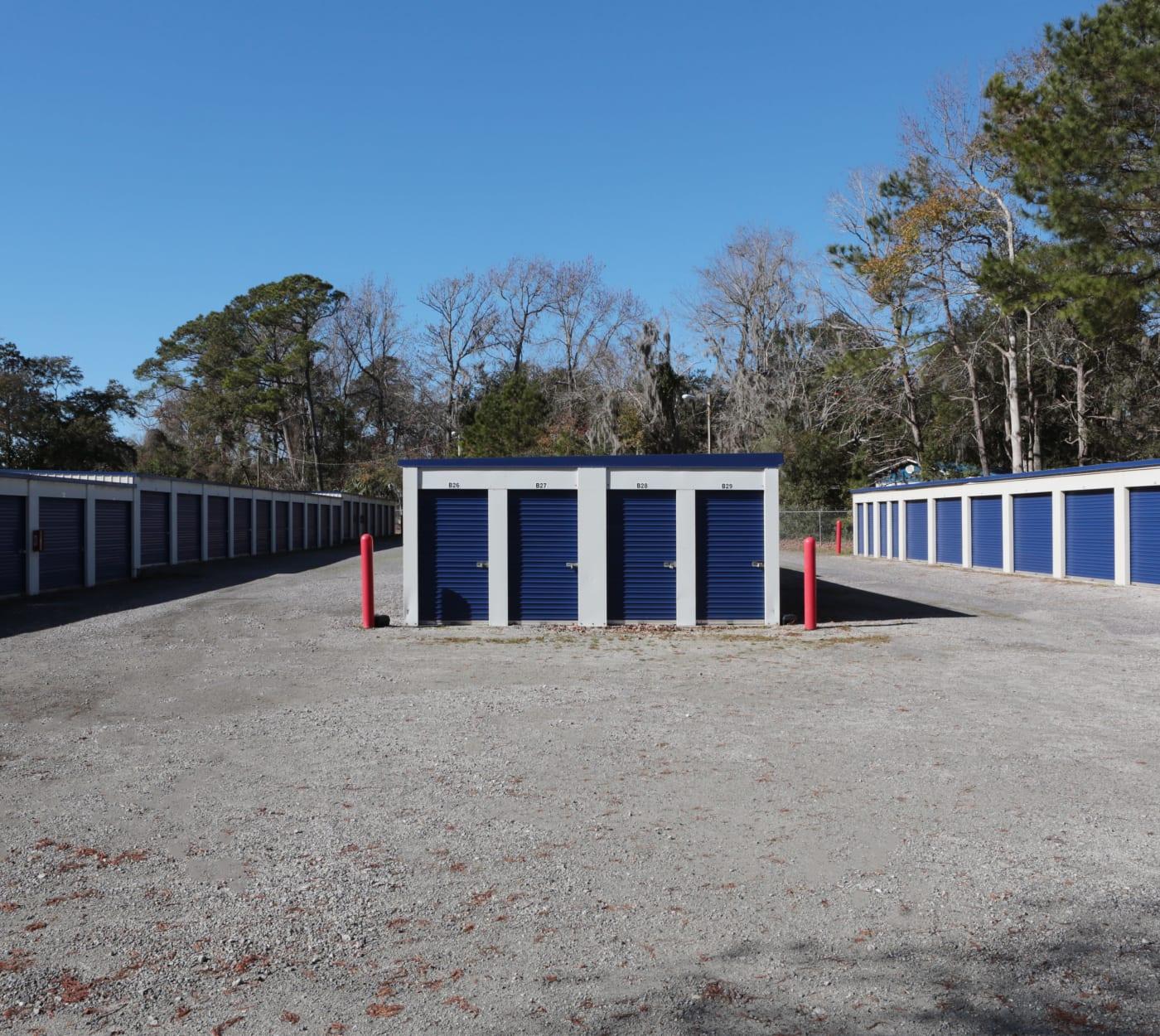 External units at Midgard Self Storage in Murrells Inlet, South Carolina