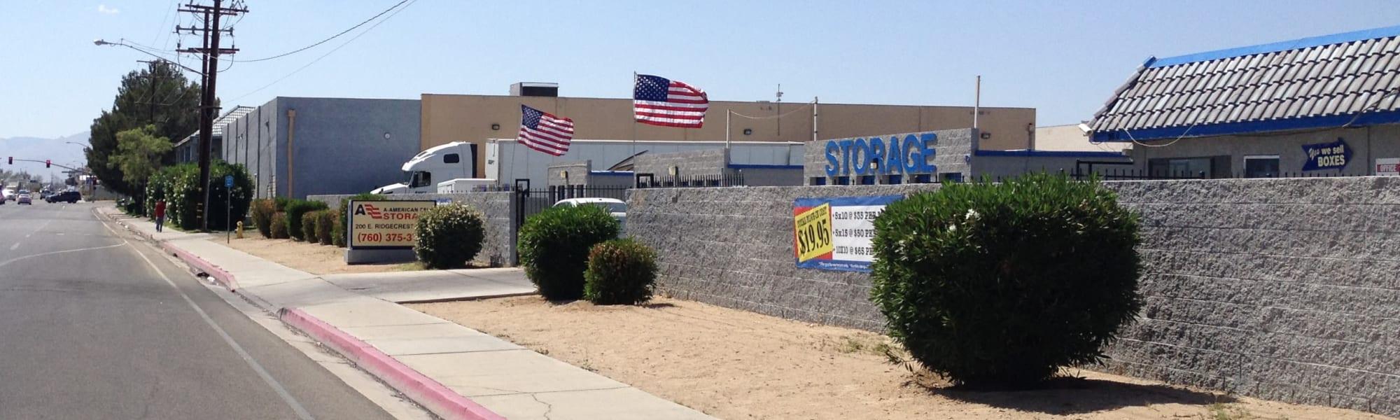 A-American Self Storage in Ridgecrest, California