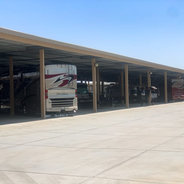 RV parking at StorQuest Self Storage in Cathedral City, California