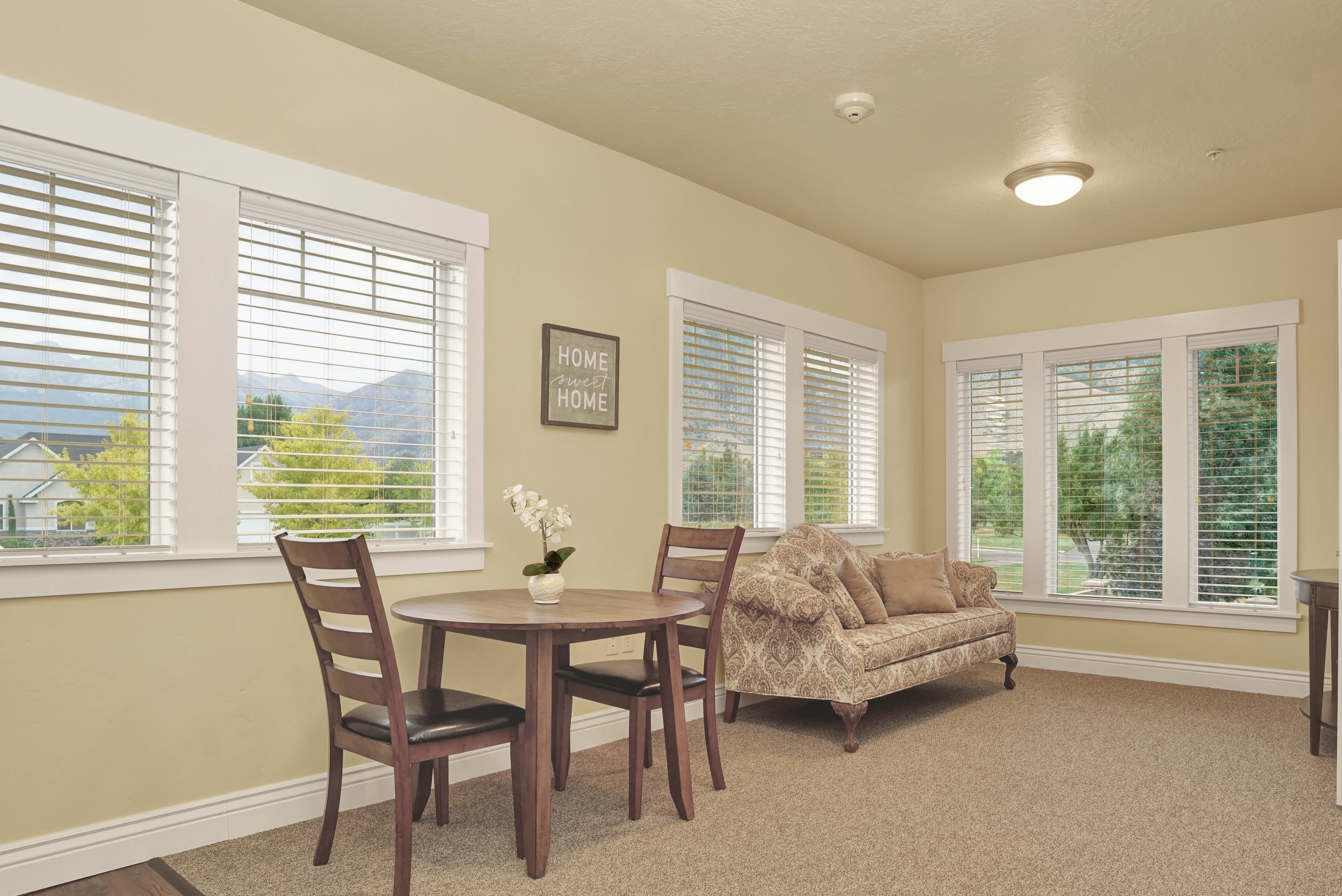 View the spacious floor plans that the senior living in Highland is offering