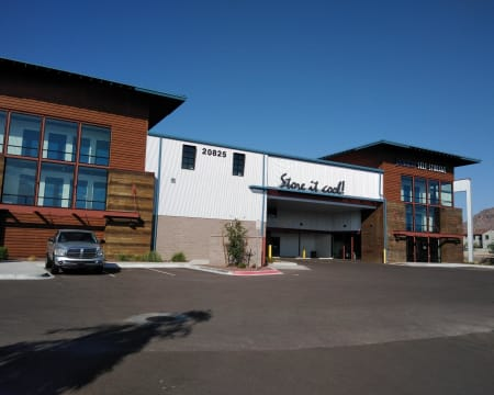 Front of the facility at StorQuest Self Storage in Buckeye, Arizona