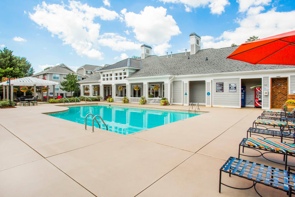 Pool area for resident use at The Seasons at Umstead in Raleigh, North Carolina