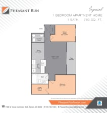 One Bedroom, Imperial, at Pheasant Run in Michigan