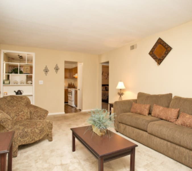 Spacious living room area at Centerview Terrace in Smyrna