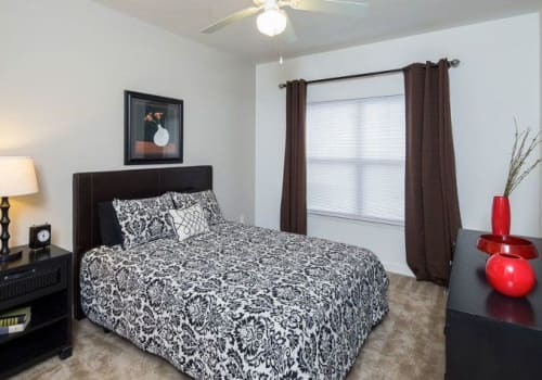 Bright, spacious bedroom at Crescent at Wolfchase in Memphis, Tennessee