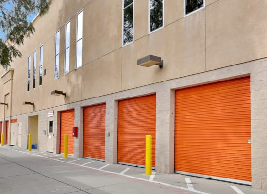 Outside-accessed self storage units at A-1 Self Storage in San Jose, California