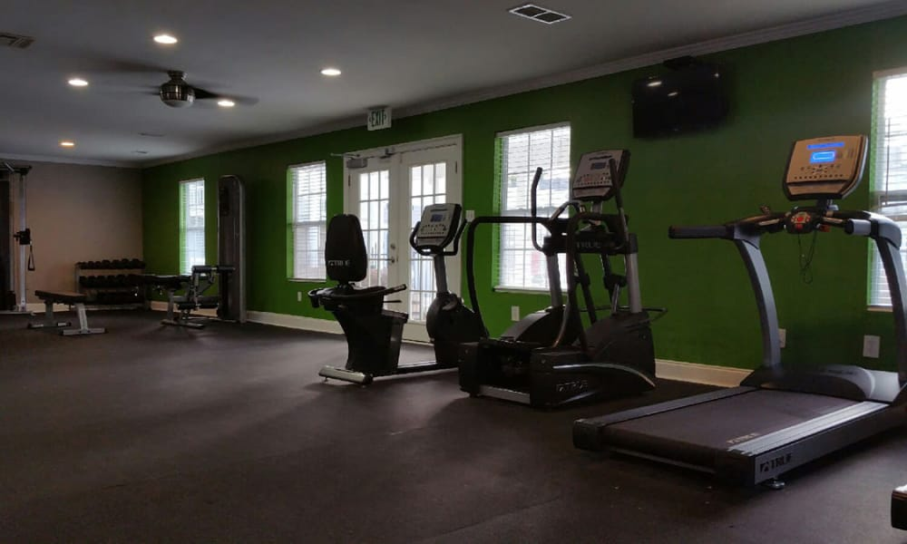 Treadmills & other equipment in our fitness center at Mobile, Alabama
