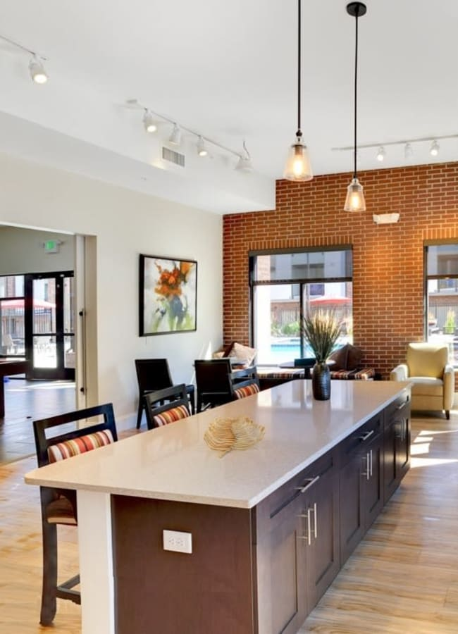 Resident lounge at The Parc at Greenwood Village in Greenwood Village, Colorado
