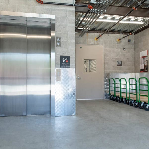 Climate controlled indoor storage units at StorQuest Self Storage in Walnut Creek, California