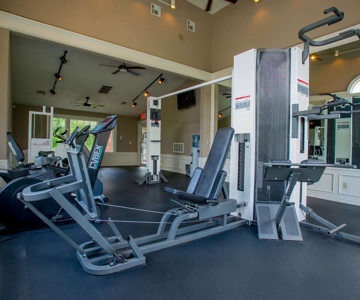 Private fitness center at Summerfield Place Apartments in Oklahoma City, Oklahoma