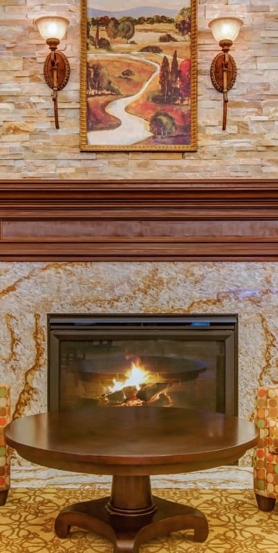 Fireplace at The Commons at Elk Grove in Elk Grove, California