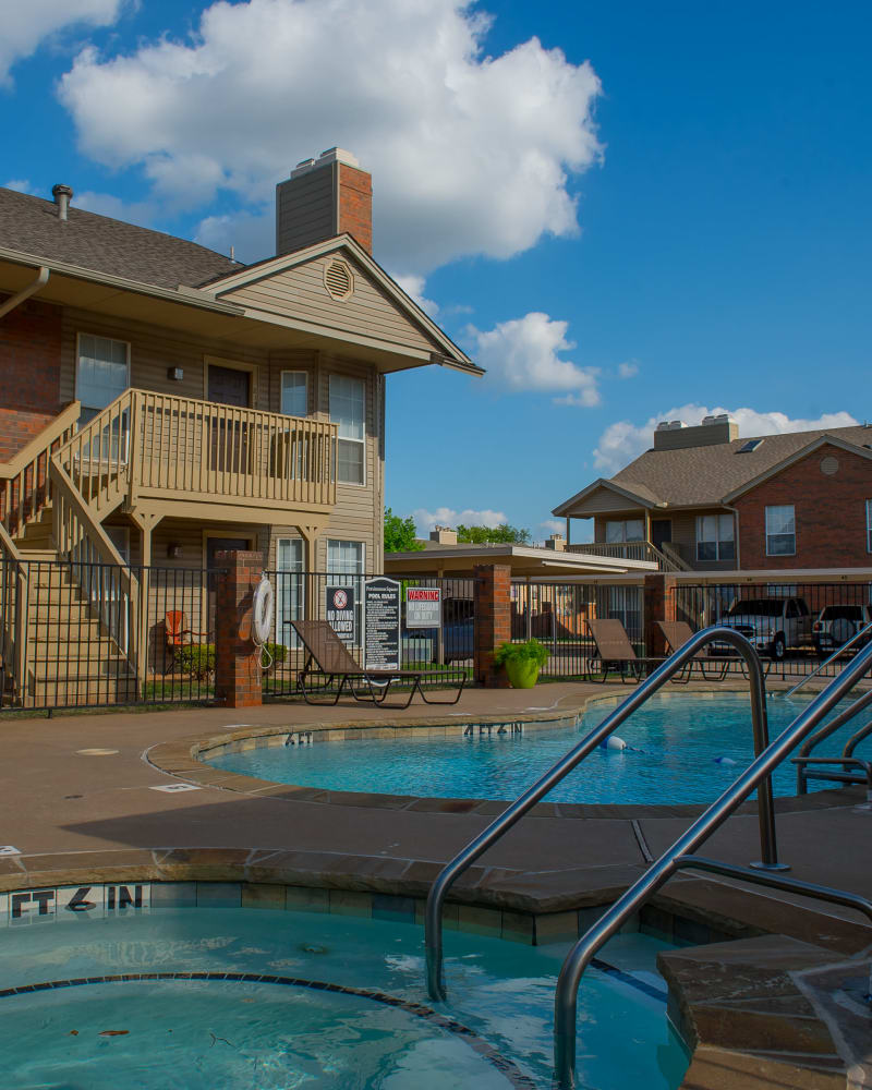 Resort style pool at Persimmon Square Apartments in Oklahoma City, Oklahoma