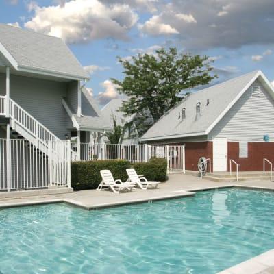 Swimming pool at Windgate Apartments in Bountiful, Utah