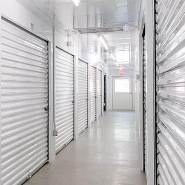 Indoor storage units at StayLock Storage in Yorktown, Indiana