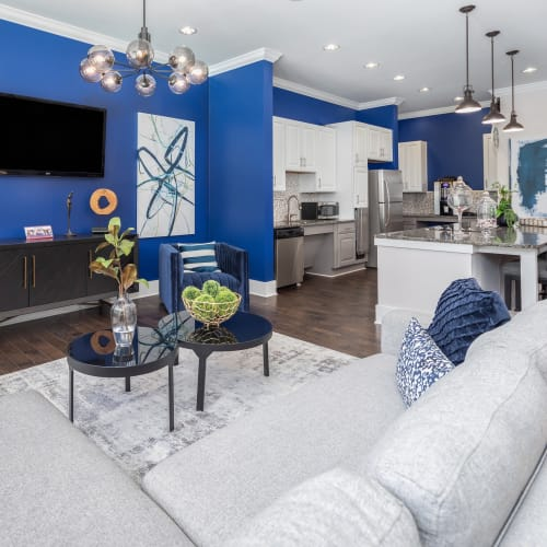 View virtual tour of the resident clubhouse at The District in Charlotte, North Carolina