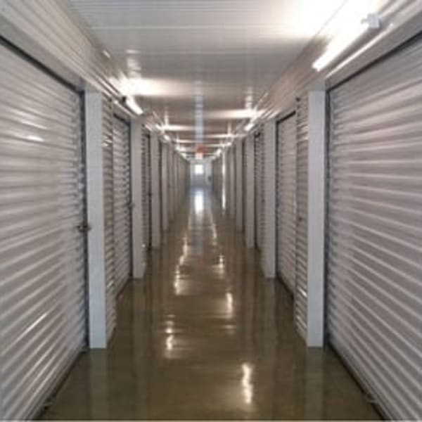 Climate-controlled indoor storage units at StorQuest Self Storage in Dallas, Texas