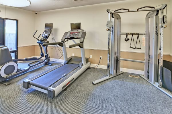 Fitness center at Cherry Creek Apartments in Riverdale, UT