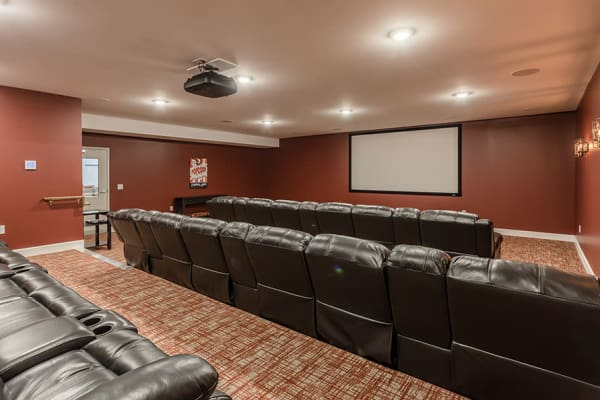 theater room at Village Heights Senior Apartments