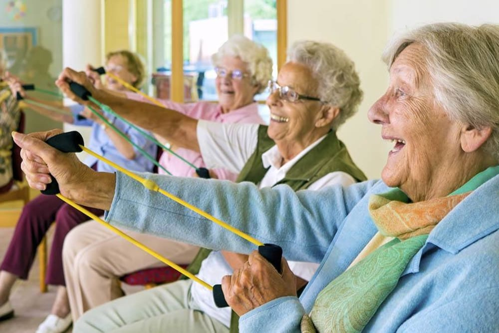 Group exercise class at The Renaissance of Stillwater in Stillwater, Oklahoma