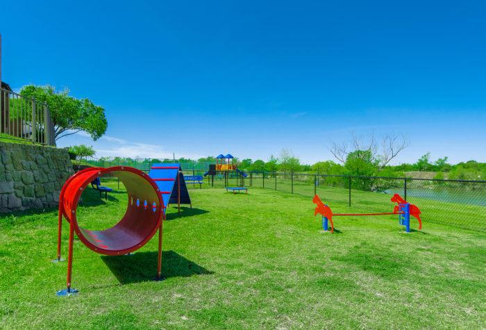 Pet park at 2803 Riverside in Grand Prairie, Texas
