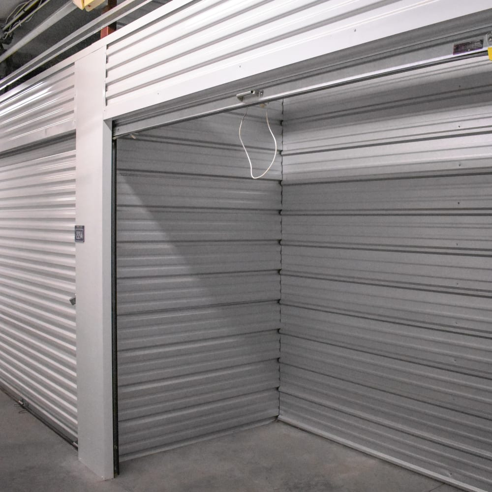 Interior storage units at STOR-N-LOCK Self Storage in Henderson, Colorado