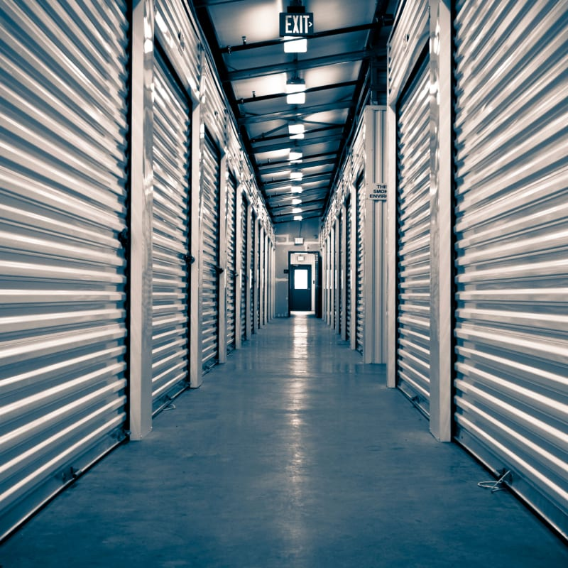 Clean and illuminated units at Towne Storage - Arville in Las Vegas, Nevada