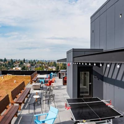 Comunal area at Rooster Apartments in Seattle, Washington
