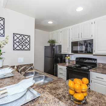 Fully equipped kitchens at apartments in Corona, CA