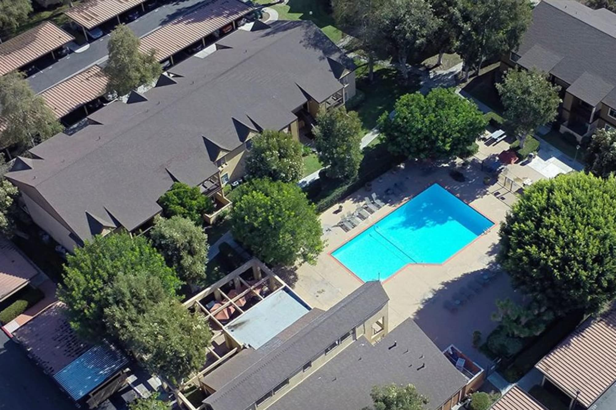 Pool Aerial View at Terra Nova Villas in Chula Vista, CA