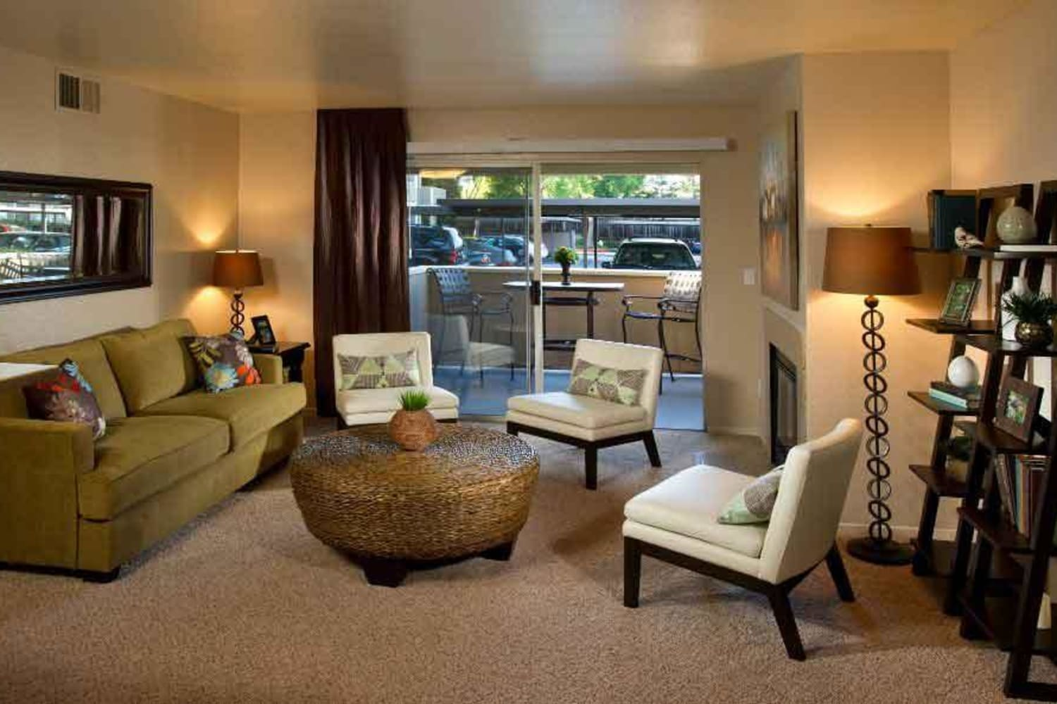 Well appointed living room at Bridges at San Ramon in San Ramon, California
