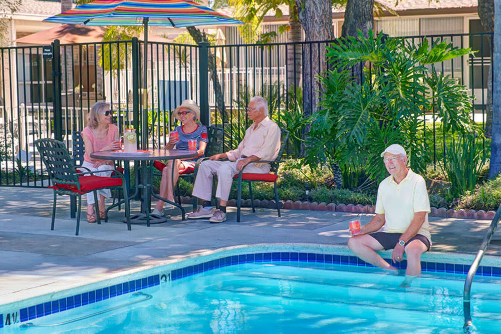 The resident pool at Monte Vista Village in Lemon Grove, California