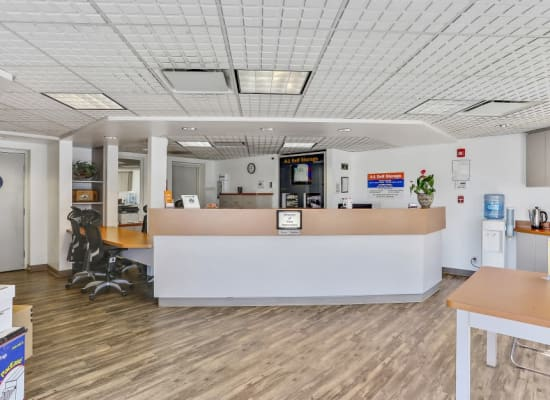 Clean front office at A-1 Self Storage in El Monte, California