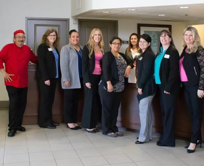 Local staff at The Commons at Woodland Hills's fitness center in Woodland Hills, California
